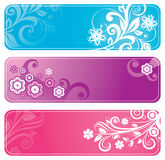 Set of floral banners Royalty Free Stock Images