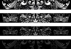 Set of floral banners Stock Images