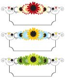 Set of floral banners Stock Image