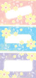 Set of floral banners Royalty Free Stock Photo