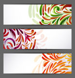 Set of floral banners Stock Photos