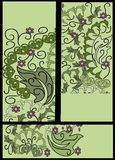 Set of floral banners Royalty Free Stock Photos