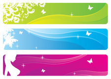 Set of floral banners. Vector set of floral banners Stock Images