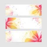 Set of floral banners. Flower design Royalty Free Stock Photography