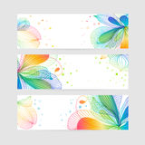 Set of floral banners. Flower design Royalty Free Stock Images