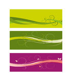 Set of Floral banners Free vector Stock Images