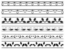Set of  floral borders - vector Stock Photo