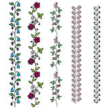 Set of floral borders. Vector illustration Stock Photography