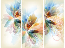 Set of floral brochures for your design Stock Photography
