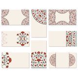 Set of floral business cards Royalty Free Stock Photos