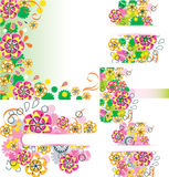 Set of floral card Royalty Free Stock Photos