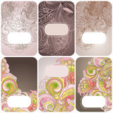 Set of floral card Stock Image