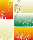 Set of floral cards Royalty Free Stock Photos