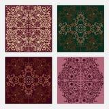 Set of floral cards stock illustration