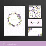 Set of floral cards. Wedding invitations. Vintage style. Vector Royalty Free Stock Photography