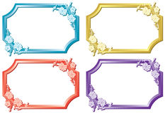 Set of floral color frames - vector Stock Photo