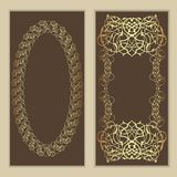 Set of   floral decor frame . Oriental border . Stock Image