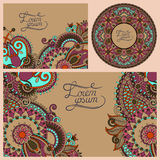 Set of floral decorative background Royalty Free Stock Images