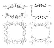 Set of floral decorative frames - vector Royalty Free Stock Photo