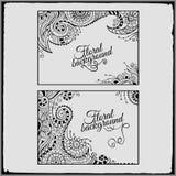 Set of floral decorative vector frames Stock Photos