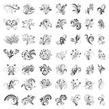 Set of floral design royalty free illustration