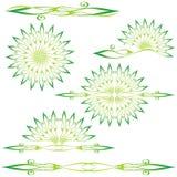 Set of floral design elements. (vector illustration Stock Images