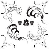 Set of floral design elements. Vector eps10 illustration Royalty Free Stock Image