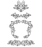 Set of floral design elements. Set of few floral design elements for books. Bitmap picture with additional vector file Royalty Free Stock Images