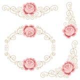 Set of floral design elements Stock Image