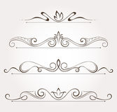 Set of floral design elements and page decoration. Stock Images