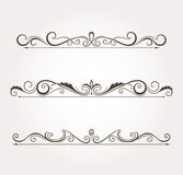 Set of floral design elements and page decoration. Stock Photos