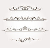 Set of floral design elements and page decoration Royalty Free Stock Images