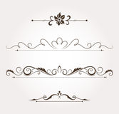 Set of floral design elements and page decoration Royalty Free Stock Photography