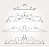 Set of floral design elements and page decoration Royalty Free Stock Photos