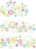 Set of floral design elements. Vector illustration. The Set of floral design elements Stock Photo