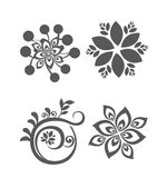 Set of floral design elements vector illustrations Stock Images