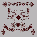 Set of floral design elements. Set of floral elements for your page design stock illustration