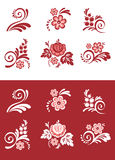 Set of floral element Stock Photos