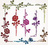 Set of floral elements vector illustration