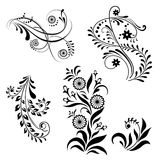 Set of floral elements Royalty Free Stock Images