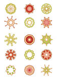 Set of  floral elements. Vector illustration set of abstract floral and organic elements Stock Image