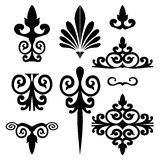 Set of floral elements vector Royalty Free Stock Photos