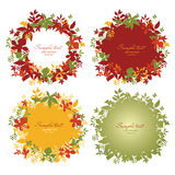 Set of floral frame Stock Image