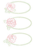 Set of floral frames. Set of three frames with roses Royalty Free Stock Photo
