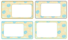 Set of floral frames Royalty Free Stock Photography