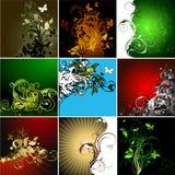 Set of floral frames Royalty Free Stock Images