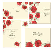 Set of floral frames. Royalty Free Stock Photos
