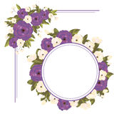 Set of floral frames Stock Image