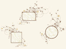 Set of floral frames Stock Images