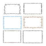 Set of floral frames. Stock Photo